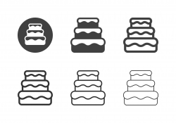 Wedding Cake Icons - Multi Series