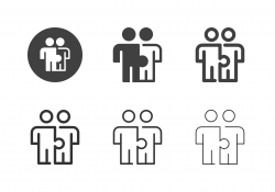Human Puzzle Icons - Multi Series