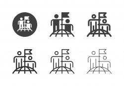 Successful Business Team Icons - Multi Series