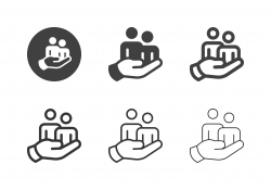 Hand Holding People Icons - Multi Series