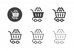 Shopping Cart Management Icons - Multi Series