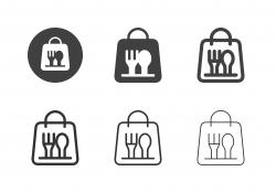Food Bag Icons - Multi Series