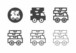 Food Delivery Truck Icons - Multi Series