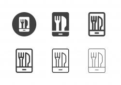 Food Order App Icons - Multi Series