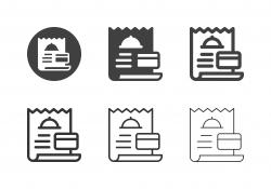 Food Bill Icons - Multi Series