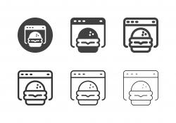 Online Burger Icons - Multi Series