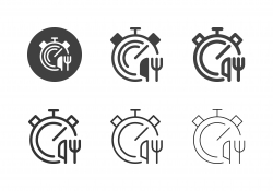 Food Delivery Time Icons - Multi Series