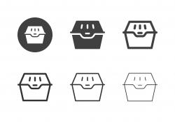 Paper Food Box Icons - Multi Series