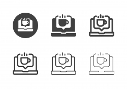 Online Coffee Icons - Multi Series