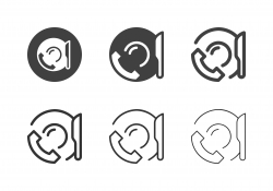 Phone Service Food Order Icons - Multi Series