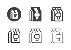 Take Out Food Bag Icons - Multi Series