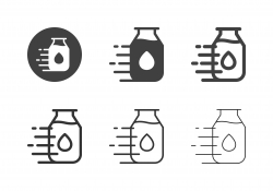 Milk Bottle Delivery Icons - Multi Series