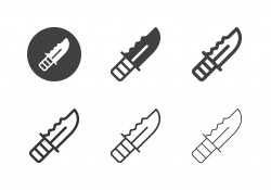 Camping Knives Icons - Multi Series