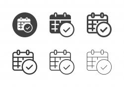 Checking Calendar Icons - Multi Series