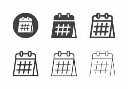 Desk Calendar Icons - Multi Series