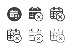 Cross Marking Calendar Icons - Multi Series