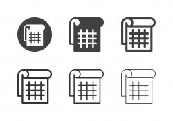 Tear Off Calendar Icons - Multi Series