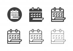 Hanging Calendar Icons - Multi Series