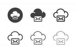 Cloud Mail Icons - Multi Series