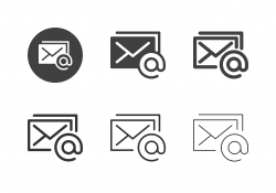Online Mail Icons - Multi Series
