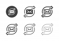 Mail Forwarding Icons - Multi Series