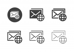 Global Mail Icons - Multi Series