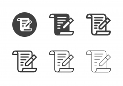 Writing Letter Icons - Multi Series