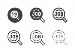 Job Search Icons - Multi Series