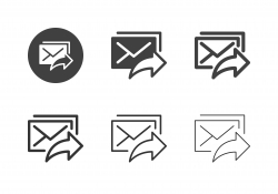 Mail Sharing Icons - Multi Series