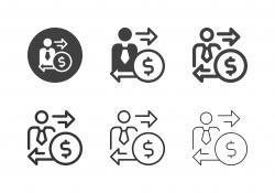 Financial Man Icons - Multi Series