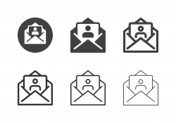 Job Applicant Letter Icons - Multi Series