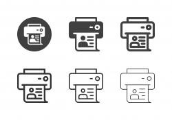 Profile Printing Icons - Multi Series