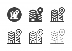Place of Work Icons - Multi Series