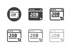 Job Application Website Icons - Multi Series