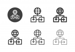 Global Networking Icons - Multi Series