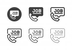 Phone Job Interview Icons - Multi Series