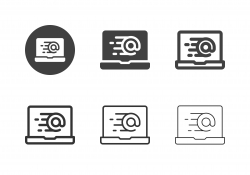Online Express Mail Icons - Multi Series