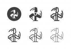 Wind Turbine Icons - Multi Series