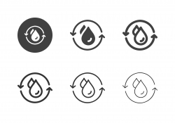 Wastewater Treatment Icons - Multi Series