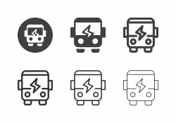Electric Buses Icons - Multi Series