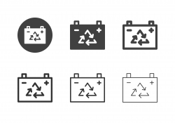 Recycle Battery Icons - Multi Series