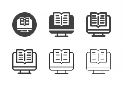 Online Book Icons - Multi Series