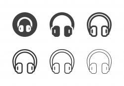 Headphone Icons - Multi Series