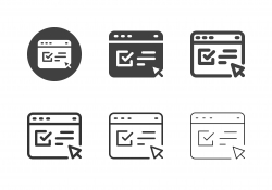 Online Application Form Icons - Multi Series