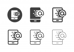Mobile Express Mail Icons - Multi Series