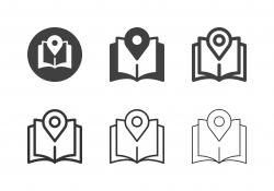 Pin Map Magazine Icons - Multi Series