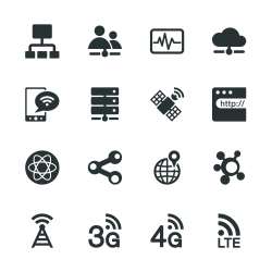 Network Silhouette Icons