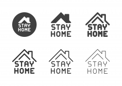 Stay Home Icons - Multi Series