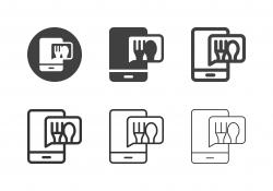 Food Ordering Notification Icons - Multi Series
