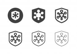 Virus Protection Icons - Multi Series